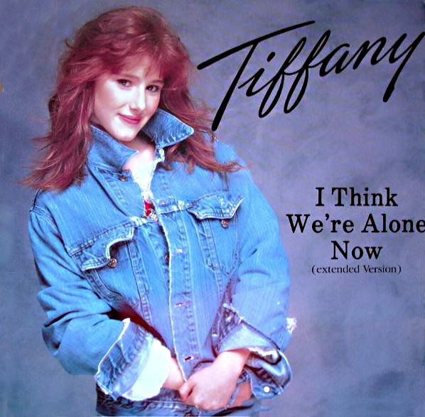 Tiffany - I Think Were Alone Now - Single cover